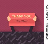 thank you lettering signboard... | Shutterstock .eps vector #256897492