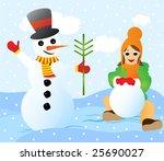 children s merrymaking during a ... | Shutterstock . vector #25690027