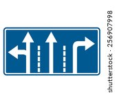 road sign   Shutterstock .eps vector #256907998