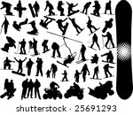 extreme sport silhouettes | Shutterstock .eps vector #25691293