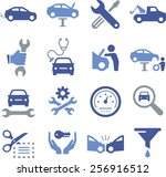 auto repair icons | Shutterstock .eps vector #256916512