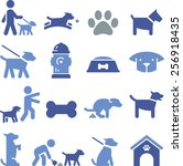 Stock vector dogs and puppy icons set 256918435