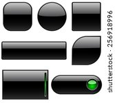 blank black plastic buttons for ... | Shutterstock . vector #256918996