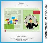 layout magazine  vector  | Shutterstock .eps vector #256920202