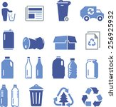 recycling icons including paper ... | Shutterstock .eps vector #256925932