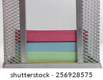multi colored paper for notes... | Shutterstock . vector #256928575