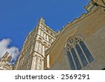 exeter cathedral in devon... | Shutterstock . vector #2569291