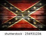 Closeup Of Confederate Flag On...