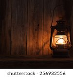 Lantern Lamp Light Dark Wooden...