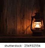 Lantern Lamp Light Dark Wooden...