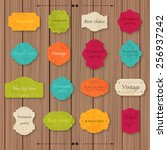 vintage paper texture... | Shutterstock .eps vector #256937242
