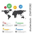 infographic element map and... | Shutterstock .eps vector #256939282