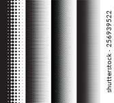 halftone dots pattern gradient... | Shutterstock .eps vector #256939522