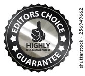 black metallic editors choice... | Shutterstock . vector #256949662