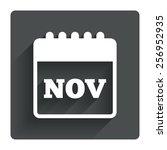 calendar sign icon. november...