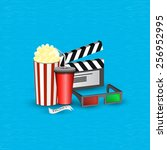 vector illustration cinema... | Shutterstock .eps vector #256952995