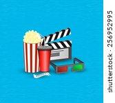 vector illustration cinema...   Shutterstock .eps vector #256952995