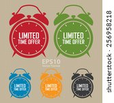 vector   limited time offer on... | Shutterstock .eps vector #256958218