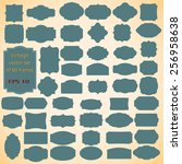 vector set of  vintage frames ... | Shutterstock .eps vector #256958638