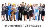 group of workers people.... | Shutterstock . vector #256961896
