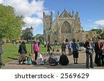 graduation ceremony outside... | Shutterstock . vector #2569629