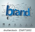 brand text  with creative... | Shutterstock .eps vector #256971832