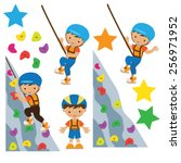 climbing vector illustration | Shutterstock .eps vector #256971952