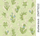 seamless pattern. natural... | Shutterstock .eps vector #256973212