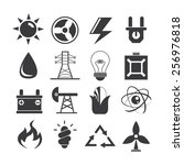 energy icons | Shutterstock .eps vector #256976818