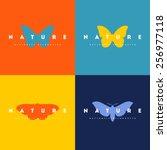 Stock vector butterfly set of logo design vector templates 256977118