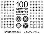 geometric asian ornament set.... | Shutterstock .eps vector #256978912