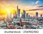 frankfurt am main at sunset ... | Shutterstock . vector #256982482