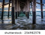 waves under the pier  in... | Shutterstock . vector #256982578