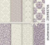 set of seamless damask patterns ...   Shutterstock .eps vector #256983706