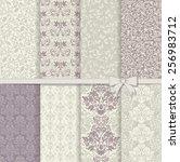set of seamless damask patterns ...   Shutterstock .eps vector #256983712