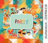 celebration festive background...   Shutterstock .eps vector #256986118