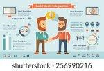 social media infographic...   Shutterstock .eps vector #256990216