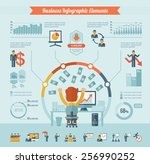 business infographic elements. | Shutterstock .eps vector #256990252