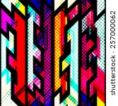 bright geometric seamless... | Shutterstock .eps vector #257000062