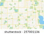 streets on the plan   city | Shutterstock . vector #257001136