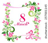 8 March. Women's Day Card With...