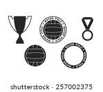 water polo. vector illustration  | Shutterstock .eps vector #257002375
