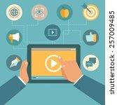 vector video marketing concept...   Shutterstock .eps vector #257009485