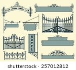 Vector Set  Wrought Iron Wicke...