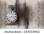 Old Clock On A Concrete...