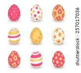 Bright Yellow Red Easter Eggs