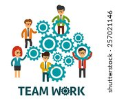teamwork vector illustration | Shutterstock .eps vector #257021146