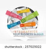 modern origami paper...   Shutterstock .eps vector #257025022