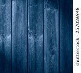 Old Wooden Blue Planks...
