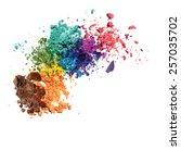 pastel vector background crumbs | Shutterstock .eps vector #257035702